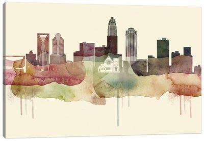 Charlotte Desert Style Skyline Canvas Art Print