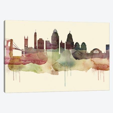 Cincinnati Desert Style Skyline Canvas Print #WDA1509} by WallDecorAddict Canvas Print