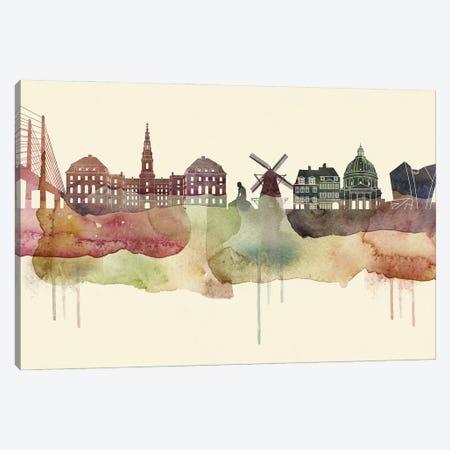 Copenhagen Desert Style Skyline Canvas Print #WDA1512} by WallDecorAddict Canvas Wall Art