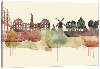 Copenhagen Desert Style Skyline Canvas Art Print