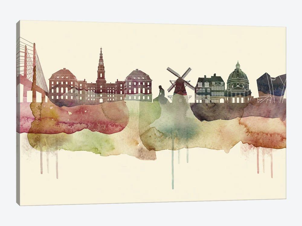 Copenhagen Desert Style Skyline by WallDecorAddict 1-piece Canvas Art Print