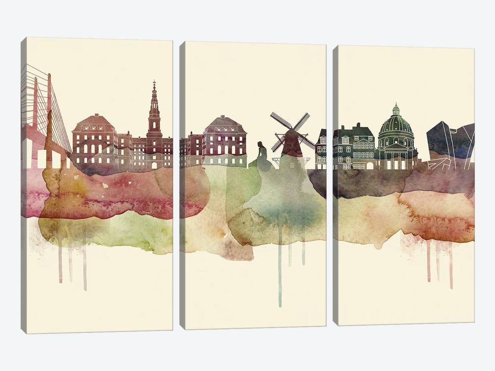 Copenhagen Desert Style Skyline by WallDecorAddict 3-piece Art Print