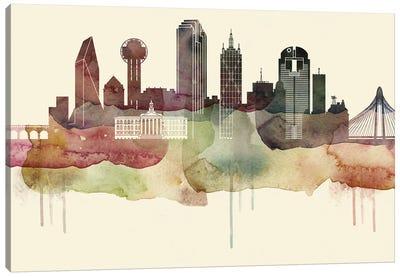 Dallas Desert Style Skyline Canvas Art Print