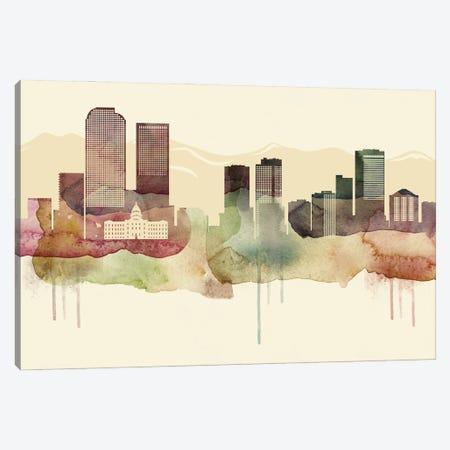 Denver Desert Style Skyline Canvas Print #WDA1514} by WallDecorAddict Canvas Art Print