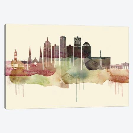Detroit Desert Style Skyline Canvas Print #WDA1515} by WallDecorAddict Art Print