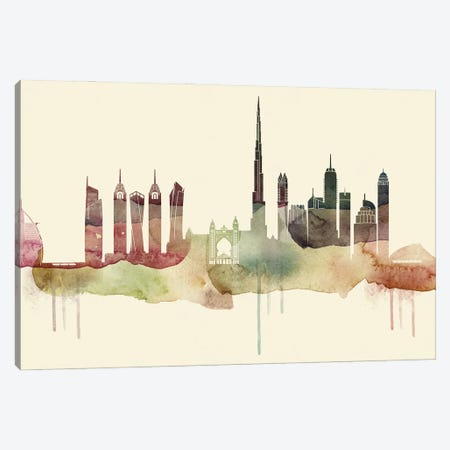 Dubai Desert Style Skyline Canvas Print #WDA1516} by WallDecorAddict Canvas Art Print