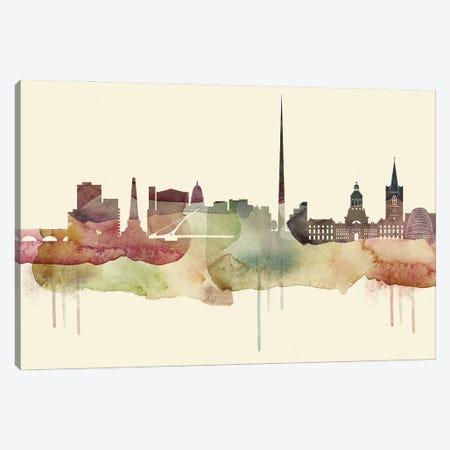 Dublin Desert Style Skyline Canvas Print #WDA1517} by WallDecorAddict Canvas Print