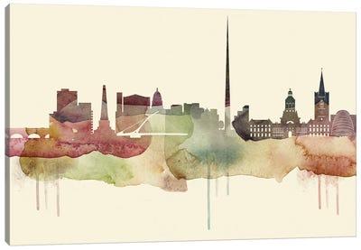 Dublin Desert Style Skyline Canvas Art Print