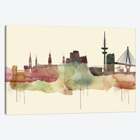 Dusseldorf Desert Style Skyline Canvas Print #WDA1518} by WallDecorAddict Canvas Artwork