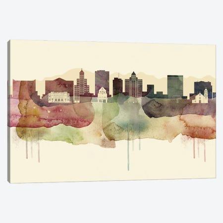 El Paso Desert Style Skyline Canvas Print #WDA1519} by WallDecorAddict Canvas Wall Art
