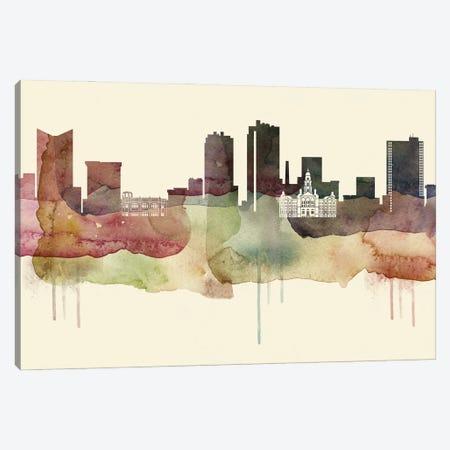 Fort Worth, Texas Desert Style Skyline Canvas Print #WDA1521} by WallDecorAddict Canvas Print