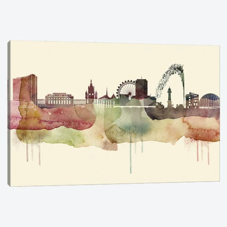 Geneva Desert Style Skyline Canvas Print #WDA1522} by WallDecorAddict Canvas Print