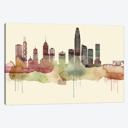 Hong Kong Desert Style Skyline Canvas Print #WDA1525} by WallDecorAddict Canvas Wall Art
