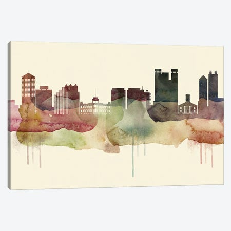Honolulu Desert Style Skyline Canvas Print #WDA1526} by WallDecorAddict Canvas Artwork