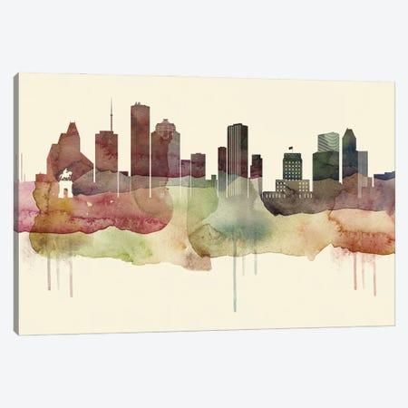 Houston Desert Style Skyline Canvas Print #WDA1527} by WallDecorAddict Canvas Artwork