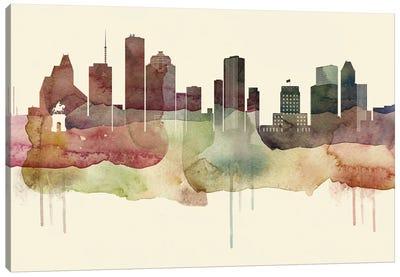 Houston Desert Style Skyline Canvas Art Print