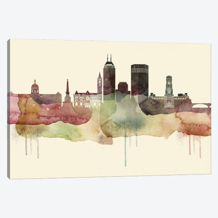 Indianapolis Desert Style Skyline Canvas Print #WDA1528} by WallDecorAddict Canvas Art Print