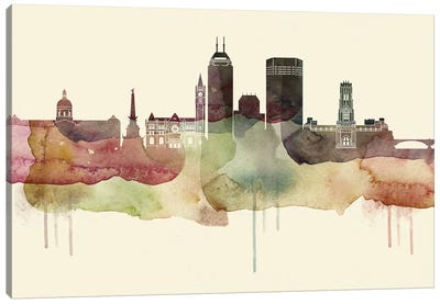 Indianapolis Desert Style Skyline Canvas Art Print