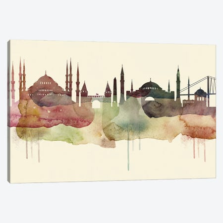 Istanbul Desert Style Skyline Canvas Print #WDA1529} by WallDecorAddict Art Print