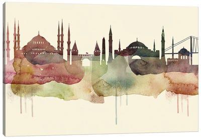 Istanbul Desert Style Skyline Canvas Art Print