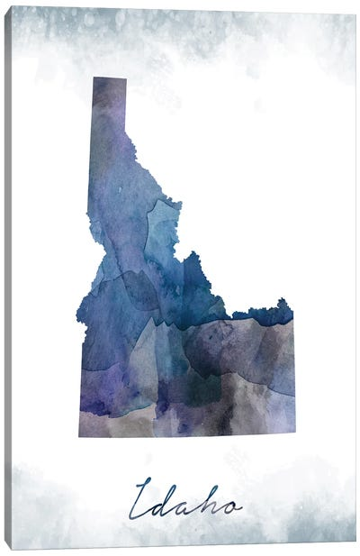 Idaho State Bluish Canvas Art Print