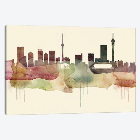 Johannesburg Desert Style Skyline Canvas Print #WDA1531} by WallDecorAddict Canvas Artwork