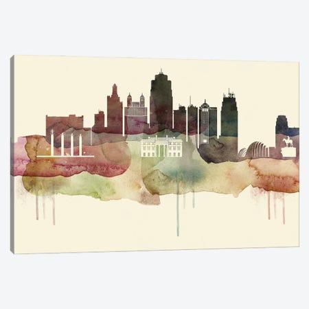 Kansas City Desert Style Skyline Canvas Print #WDA1532} by WallDecorAddict Canvas Wall Art