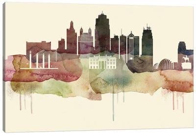 Kansas City Desert Style Skyline Canvas Art Print