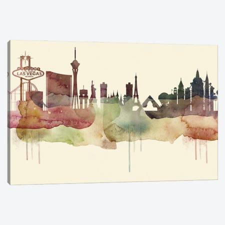Las Vegas Desert Style Skyline Canvas Print #WDA1533} by WallDecorAddict Canvas Art