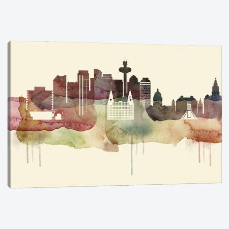 Liverpool Desert Style Skyline Canvas Print #WDA1536} by WallDecorAddict Art Print