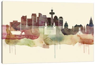 Liverpool Desert Style Skyline Canvas Art Print