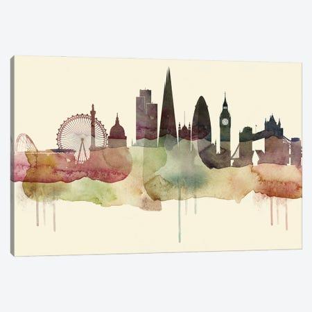 London Desert Style Skyline Canvas Print #WDA1537} by WallDecorAddict Art Print