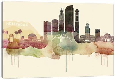 Los Angeles Desert Style Skyline Canvas Art Print