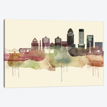 Louisville Desert Style Skyline Canvas Print #WDA1539} by WallDecorAddict Canvas Artwork