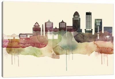 Louisville Desert Style Skyline Canvas Art Print