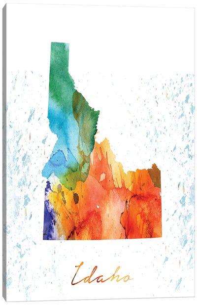 Idaho State Colorful Canvas Art Print