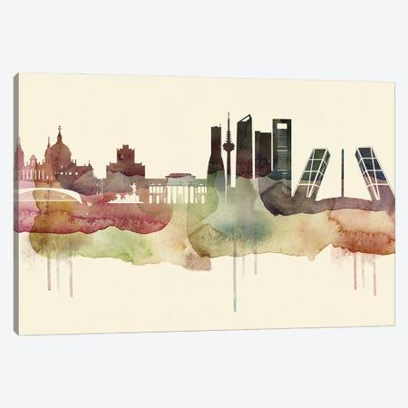 Madrid Desert Style Skyline Canvas Print #WDA1540} by WallDecorAddict Canvas Art Print