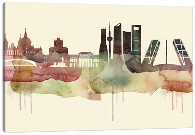 Madrid Desert Style Skyline Canvas Art Print