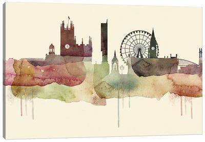 Manchester Desert Style Skyline Canvas Art Print