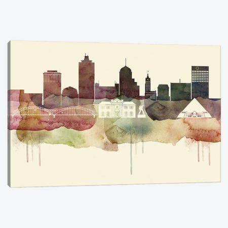 Memphis Desert Style Skyline Canvas Print #WDA1542} by WallDecorAddict Canvas Art Print
