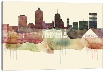 Memphis Desert Style Skyline Canvas Art Print