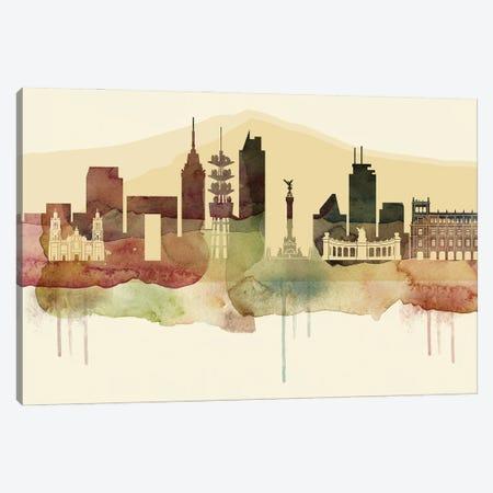 Mexico City Desert Style Skyline Canvas Print #WDA1543} by WallDecorAddict Canvas Print