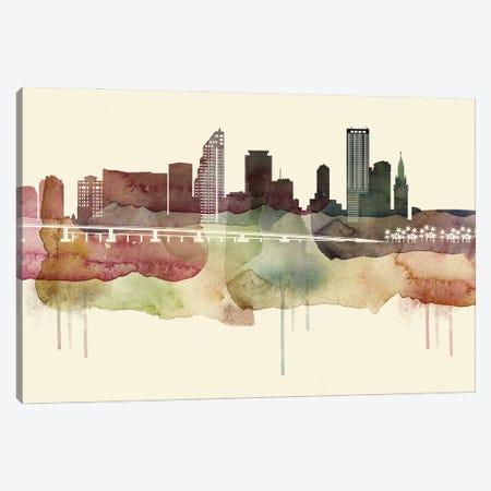 Miami Desert Style Skyline Canvas Print #WDA1544} by WallDecorAddict Canvas Wall Art