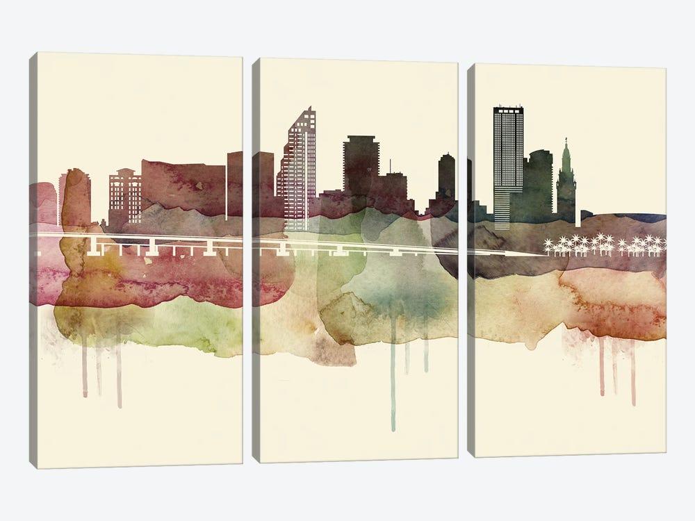 Miami Desert Style Skyline by WallDecorAddict 3-piece Canvas Artwork