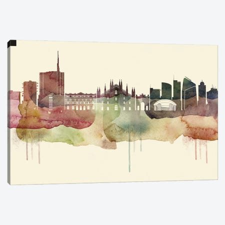 Milan Desert Style Skyline Canvas Print #WDA1545} by WallDecorAddict Canvas Wall Art