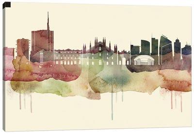 Milan Desert Style Skyline Canvas Art Print