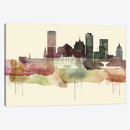 Milwaukee Desert Style Skyline Canvas Print #WDA1546} by WallDecorAddict Canvas Art