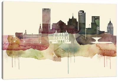 Milwaukee Desert Style Skyline Canvas Art Print