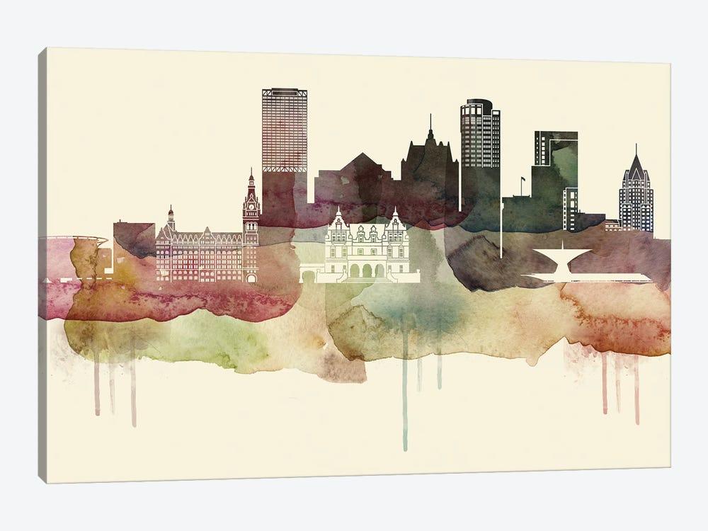 Milwaukee Desert Style Skyline by WallDecorAddict 1-piece Canvas Wall Art