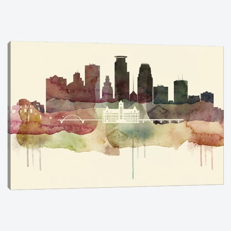 Minneapolis Desert Style Skyline Canvas Print #WDA1547} by WallDecorAddict Canvas Art